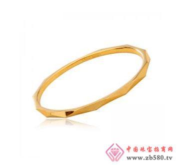18K黄金月亮花纹戒指