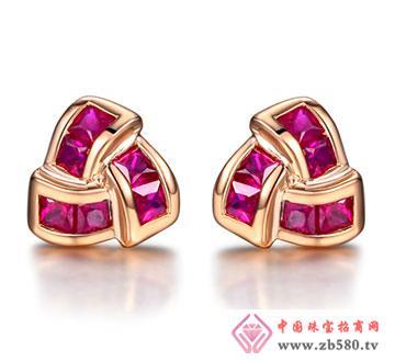 天然红宝石耳钉-结婚耳饰-精致玲珑