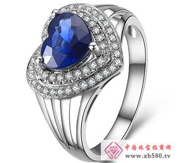 天然蓝宝石戒指-斯里兰卡蓝宝石戒