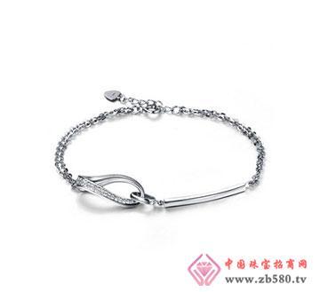 个性18K金钻石手链