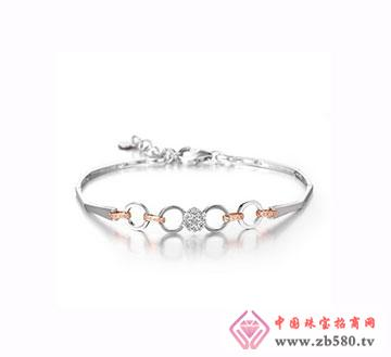时尚K金钻石手链