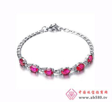 椭圆时尚红宝石手链