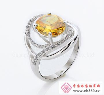 925纯银高档锆石戒指