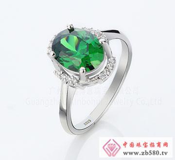 925银清新绿色锆石戒指