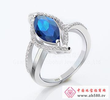 925银时尚马眼石锆石戒指