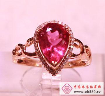 红色碧玺戒指