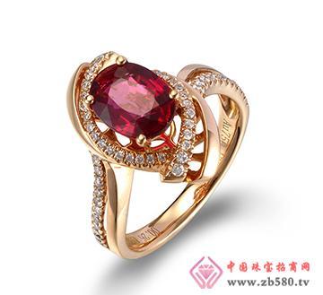 巴意珠宝--AU750碧玺戒指