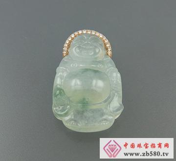 巴意珠宝--AU750翡翠吊坠1