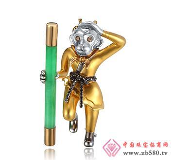 巴意珠宝--AU750翡翠摆件
