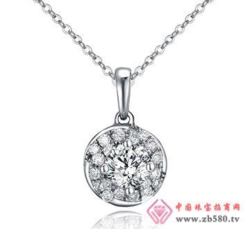 巴意珠宝--AU750钻石吊坠
