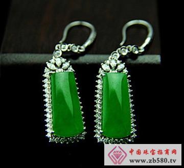 大昌珠宝--冰种满绿翡翠耳坠