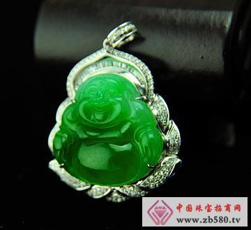 大昌珠宝--冰种满绿翡翠佛爷