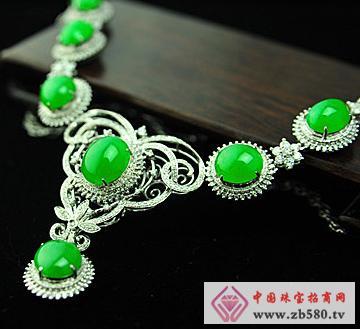 大昌珠宝--冰种满绿翡翠项链
