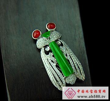 大昌珠宝--冰种满绿翡翠知了