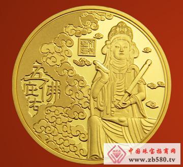 紫金黄金--五佛名山纯金套装