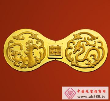 紫金黄金--双喜龙凤扣