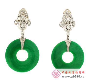 中龙金银--玉石耳环