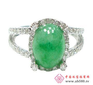 中龙金银--玉石戒指