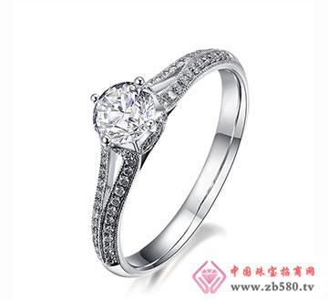 流言语-40分18k白金钻石女结婚戒指