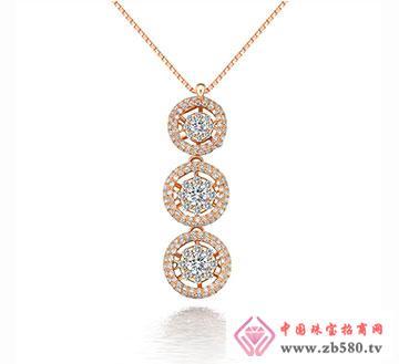 清漪-115分18K彩金钻石吊坠