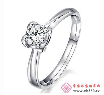 时光密语-33分18K白金钻石女结婚戒