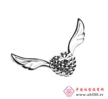 甜美风丘比特天使之翼吊坠