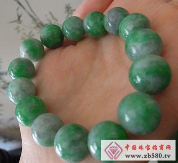 缅甸翡翠手链珠链苹果绿翡翠手链珠