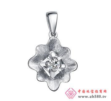 梅花钻石吊坠