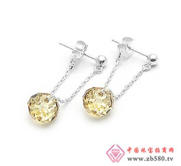 气质黄水晶耳钉