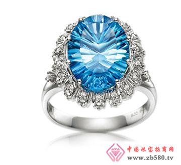 白18k金托帕石戒指