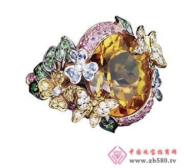 百18k金蓝宝石戒指