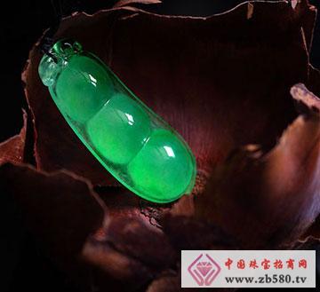 翡翠福豆挂件