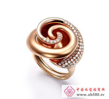 18k玫瑰金钻石戒指