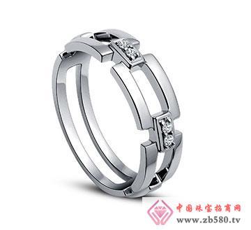 18K金钻石女戒—关爱