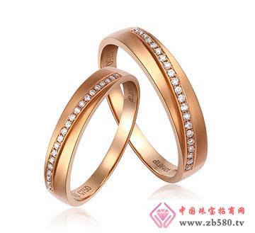 18K金钻石情侣戒指—岁月如歌