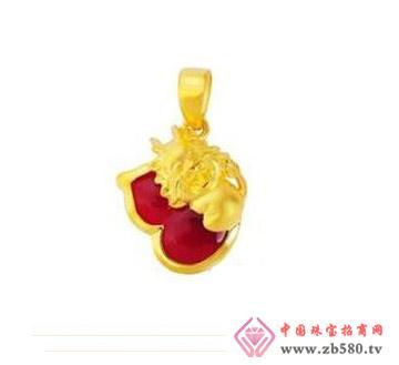 豫冠珠宝--黄金吊坠01