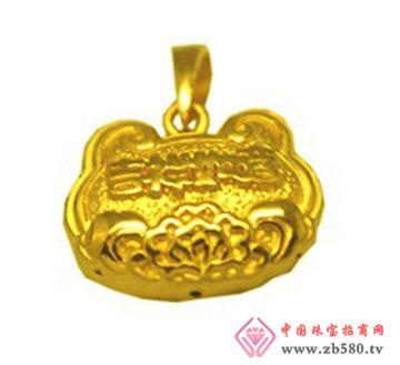 豫冠珠宝--黄金吊坠03