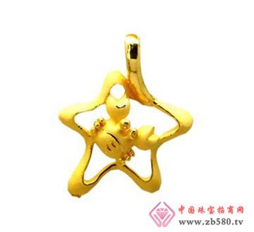 豫冠珠宝--黄金吊坠04