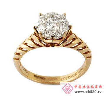 玫瑰金钻石女戒