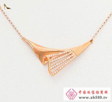 18K金钻石项链风