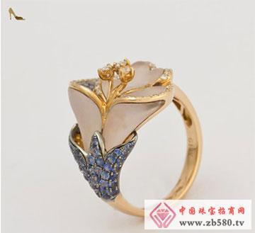 18K金晶石戒指