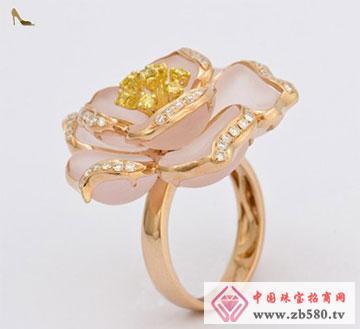 18K金水晶戒指