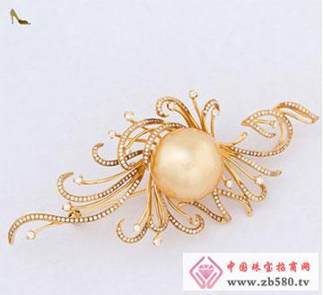 18K金珍珠胸针