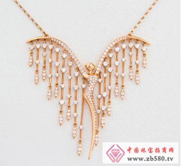 18K金钻石项链