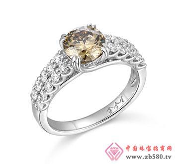 意大利18k金彩色钻石戒指