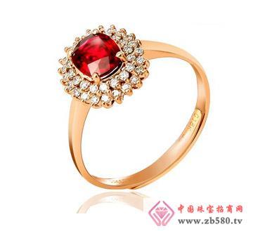 佳烁18K金缅甸鸽血红红宝石戒指