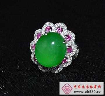 中国黄金珠宝--=翡翠戒指01