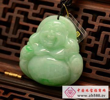 中国黄金珠宝--大肚弥勒佛翡翠挂件