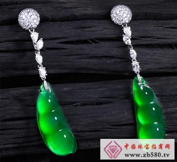 中国黄金珠宝--翡翠耳饰
