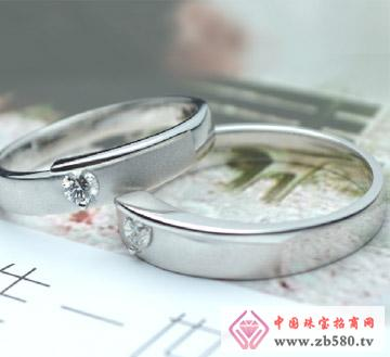 川川珠宝--制定有恒爱情18k白金钻